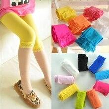 Детские летние леггинсы для девочек детские укороченные кружевные брюки для девочек леггинсы для девочек 14 цветов, TZ05