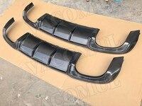 Carbon Fiber /FRP Unpainted Rear Lip Spoiler Diffuser for Audi A3 Sline S3 Sedan 4 door Not A3 Standard 2017 2018 Car Styling