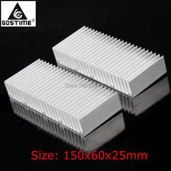 10PCS 150MM Heatsink Cooler Radiator Cooling Fin Aluminum Heat Sink for LED, Power IC Transistor 150x60x25m