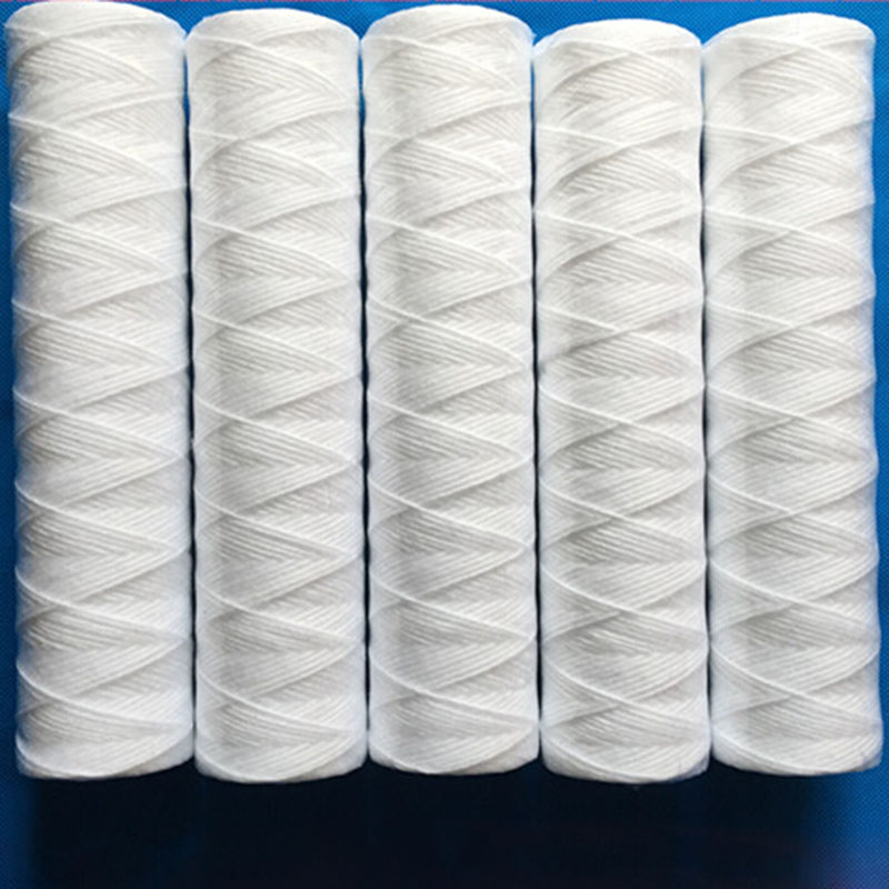Water Purifier 3pcs x 10 String Wound Filter Cartridge 5micron PP Cotton Filter Sedmient Filter exit wound