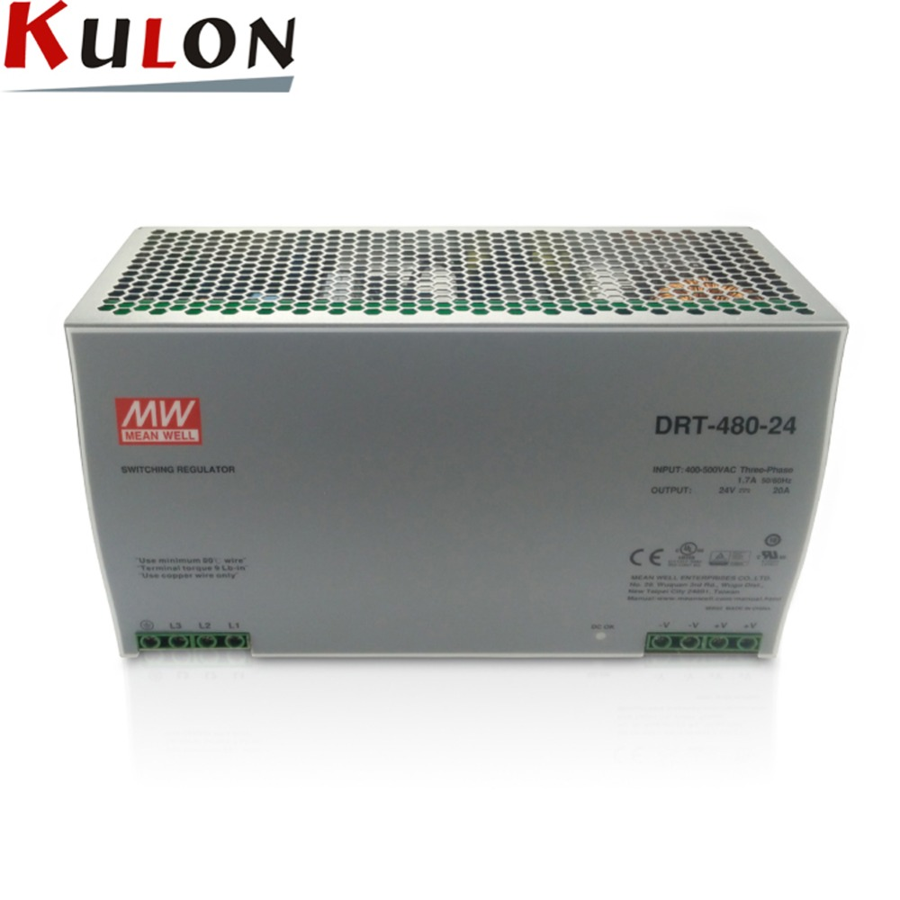 Original Meanwell DRT-480-24 480W 20A 24V mean well three phase Industrial DIN Rail Power Supply original module cpm2c s110c drt