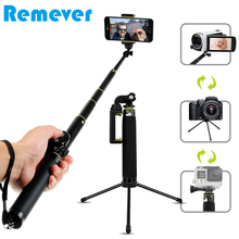 2019 New Foldable Handheld Bluetooth Selfie Stick with Mini Tripod for Xiaomi iPhone 7 X Phones Extendable Monopod for Gopro