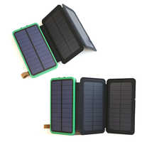Power Bank 10000mAh Rechargeable External Battery Max. 3.6W Solar Panel Charging Solar Power Bank.
