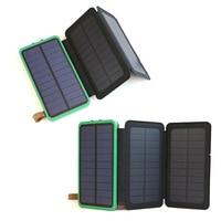 Power Bank 10000mAh Rechargeable External Battery Max. 3.6W Solar Panel Charging Solar Power Bank.