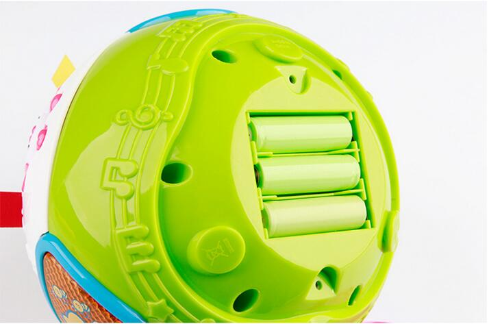 Bébé puzzle jouet vilain spin ball électrique musique lumière multifonctionnel enfants interaction balance cubes jouets - 5