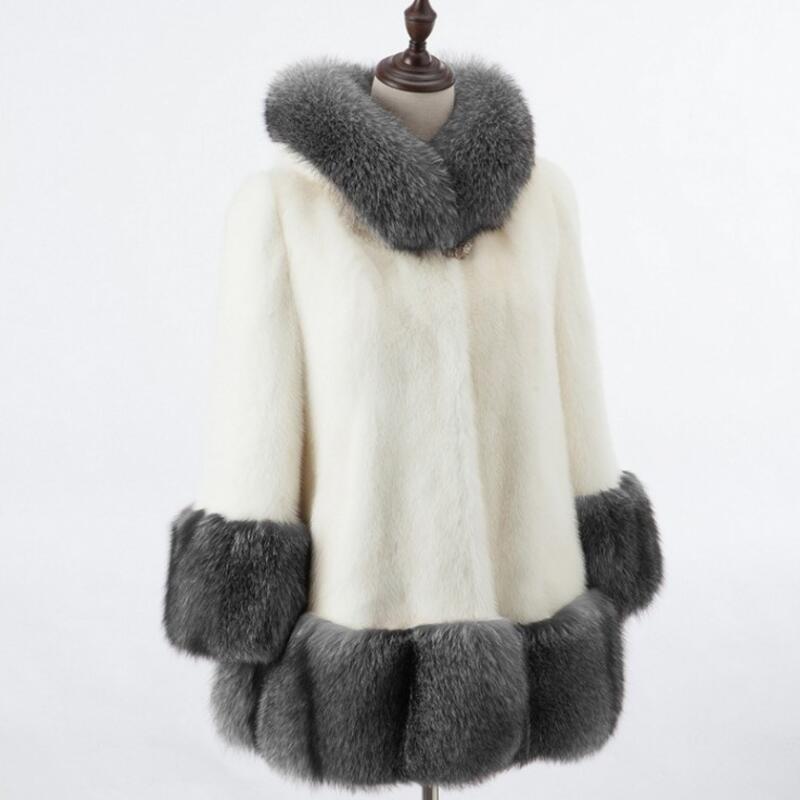 Women's Clothing Frank Msaiss Winter New Imitation Fox Fur Coat Mink Middle East Luxury Women Long Coat Faux Fur Jacket Coat Women Dress Large Size