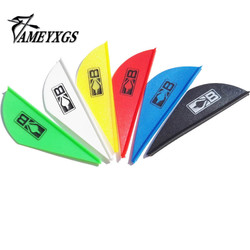 50PCS 2 inches Blazer Feather Plastic Vans Plume For Archery Arrow Bow Hunting Outdoor Shooting 6 Colors Outdoor Accessories
