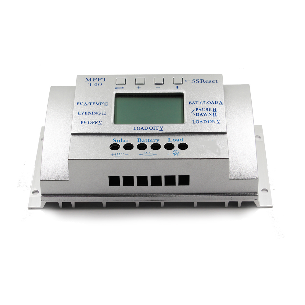 40A Solar Charge Controllers 12V 24V Auto with 5V 1.5A USB Output  Load Light and Timer Control Solar Panel Regulator LCD 40A-in Solar Controllers from Home Improvement    2