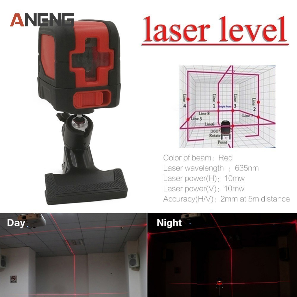 15m Indoor Working Range Laser Level Self-Leveling 110 Horizontal Vertical Cross Super Powerful Red Laser Beam Line high quality southern laser cast line instrument marking device 4lines ml313 the laser level