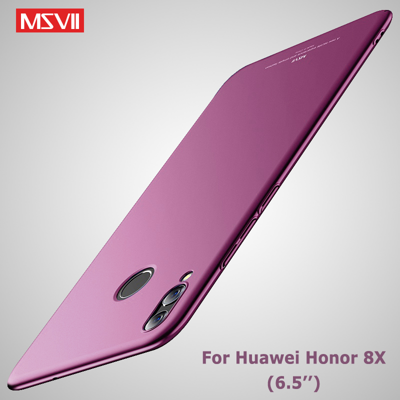 Honor 8X Case Cover Msvii Slim Matte Coque For Huawei Honor 8X Max Case Honor8x Hard PC Back Cover For Huawei 8X Max Phone Cases