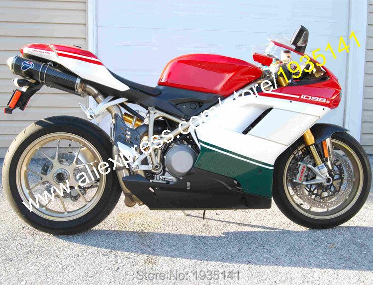 Hot Sales,Body Kit For Ducati 848 1098 2007 2008 2009 2010 2011 Bodywork 1098S 1198 07-11 Motorbike Fairing (Injection molding)