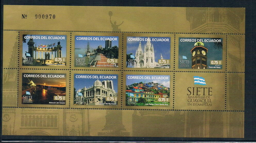 где купить  AA0672 Ecuador 2012 Guayaquil miracle flag stamps 1MS new 1005  дешево