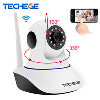 Techege HD Night Vision Wifi Ip Camera P2P 360 Rotation PTZ Support Alarm Devices With Motion