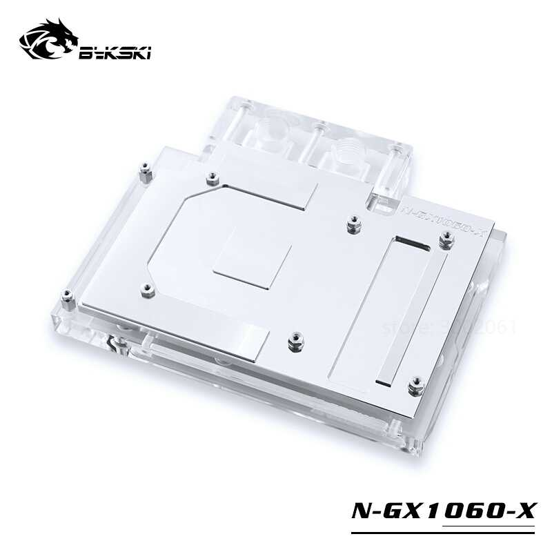 BYKSKI for NVIDIA Reference Edition GTX1060 / EVGA 1060 GAMING  6G-(06G-P4-6161)  Full Cover copper waterblock  P/N:N-GX1060-X