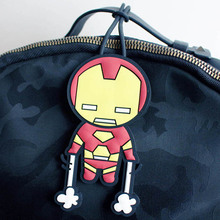 Travel Accessories Cartoon Silica Gel Iron man Luggage Tag Women Portable Label Suitcase ID Address Holder Baggage Boarding travel accessories luggage tag fashion map silica gel suitcase id address holder cute baggage boarding tag portable label