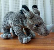 Stuffed Animal Children'S Toys Gifts  Simulation  Rhino Doll  Plush Toy White Rhinoceros