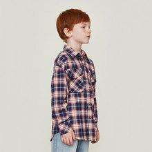 New Spring Boy Long Sleeve Shirt Cotton Printing Star Street Hip Hop Kid Girl Plaid With Pocket Warm Tops
