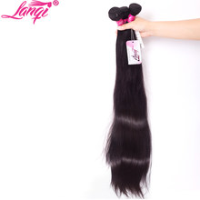 Peruvian straight hair remy 1/3 bundles deal long human hair straight virgin hair weave bundles lanqi 30 32 inch hair extensions(China)