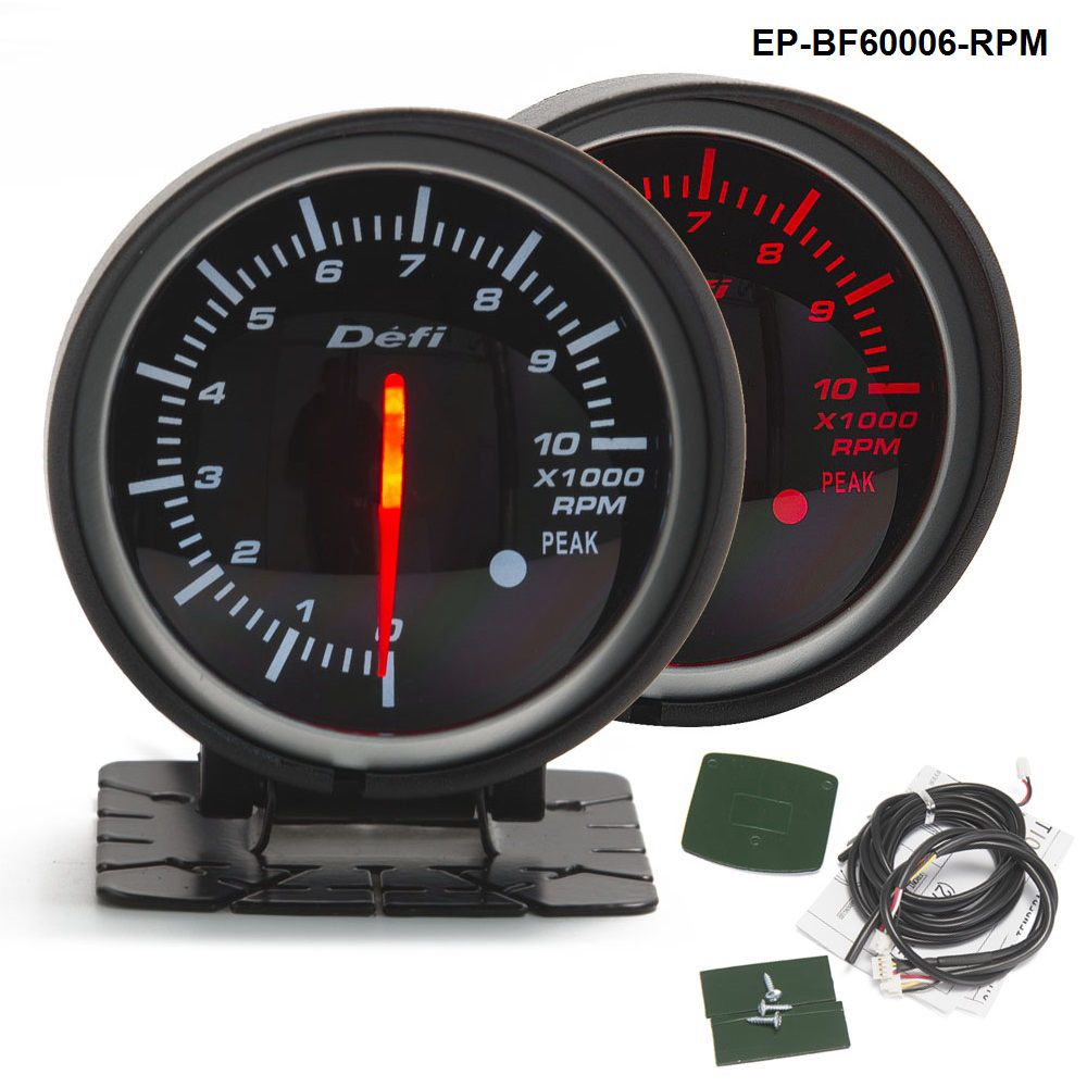 bf 60mm led tachometer gauge high quality auto car motor. Black Bedroom Furniture Sets. Home Design Ideas