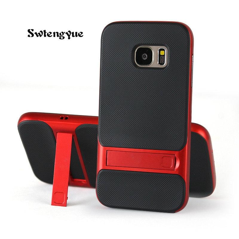 Для Samsung Galaxy <font><b>S8</b></font> чехол Роскошный тонкий защитный противоударный Панцири Обложка Марка чехол для Samsung Galaxy S7 телефон случаях капа