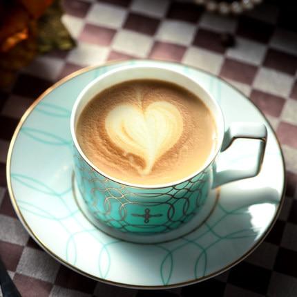 British coffee cup dish bone porcelain teapot European black tea afternoon tea ballet coffee tea set