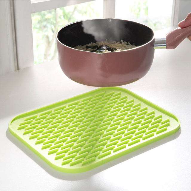 4PCS Multifunction Durable Silicone Anti Hot Pot Mat Heat Resistant Silicone  Hot Pad Coaster Pot
