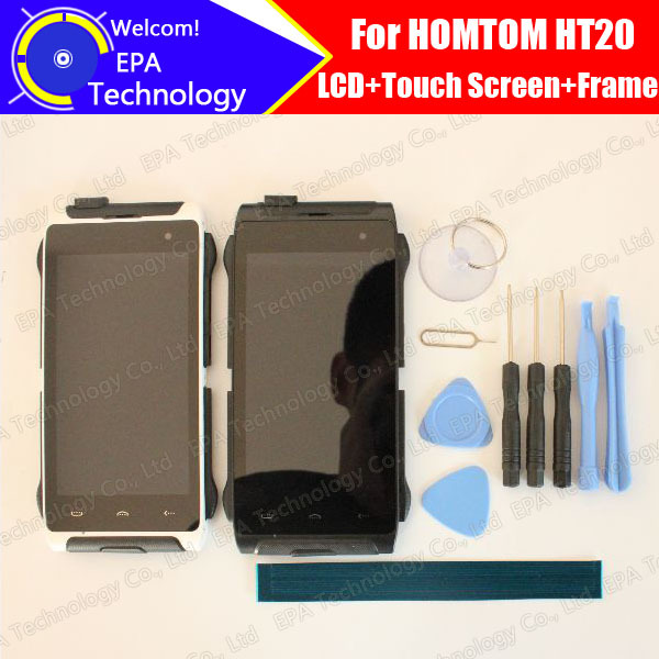 HOMTOM HT20 LCD Display + Touch Screen Digitizer + Frame Assembly 100% Original New LCD + Touch Digitizer for HT20 + Tools