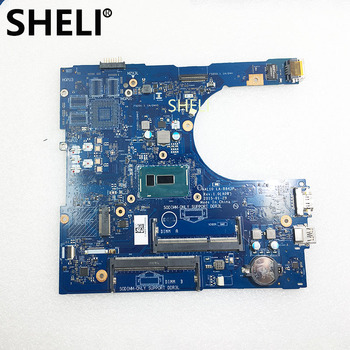 SHELI FOR DELL CN-0RC3PN 0RC3PN RC3PN AAL10 LA-B843P Inspiron  5758 laptop motherboard SR23W i7-5500U CPU Main board