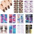 10 UNIDS Nails Art Lote flor Misterio Galaxias Diseñar pegatinas para las uñas de Manicura Decoración Etiquetas Engomadas Del Clavo Wraps Sticker Calcomanías de Agua