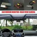 2 en 1 Cámara de Ayuda al Aparcamiento de Coches + 5 pulgadas de Color tft lcd monitor del espejo retrovisor del coche para volkswagen vw caddy MK2