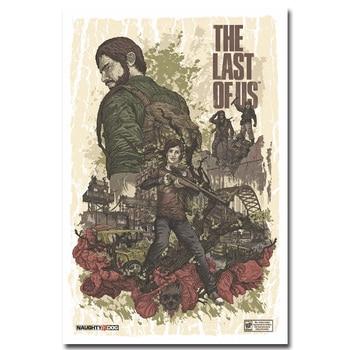Шелковый плакат гобелен игра Последний из нас
