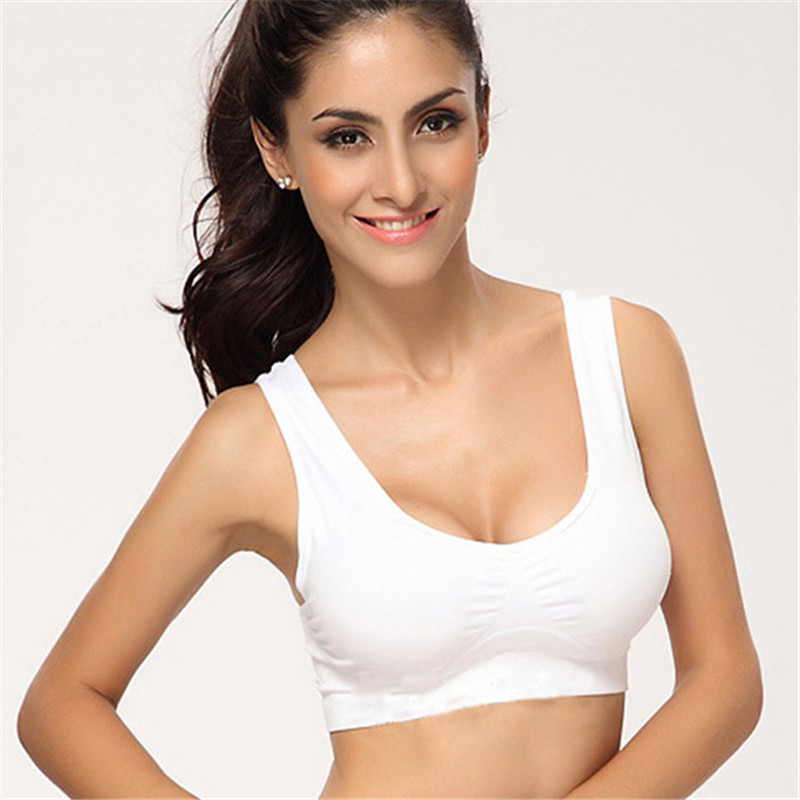 Professional Women Yoga Top Tank Seamless Fitness Sports Bra Gym Vest 3 Colors With Solid Color