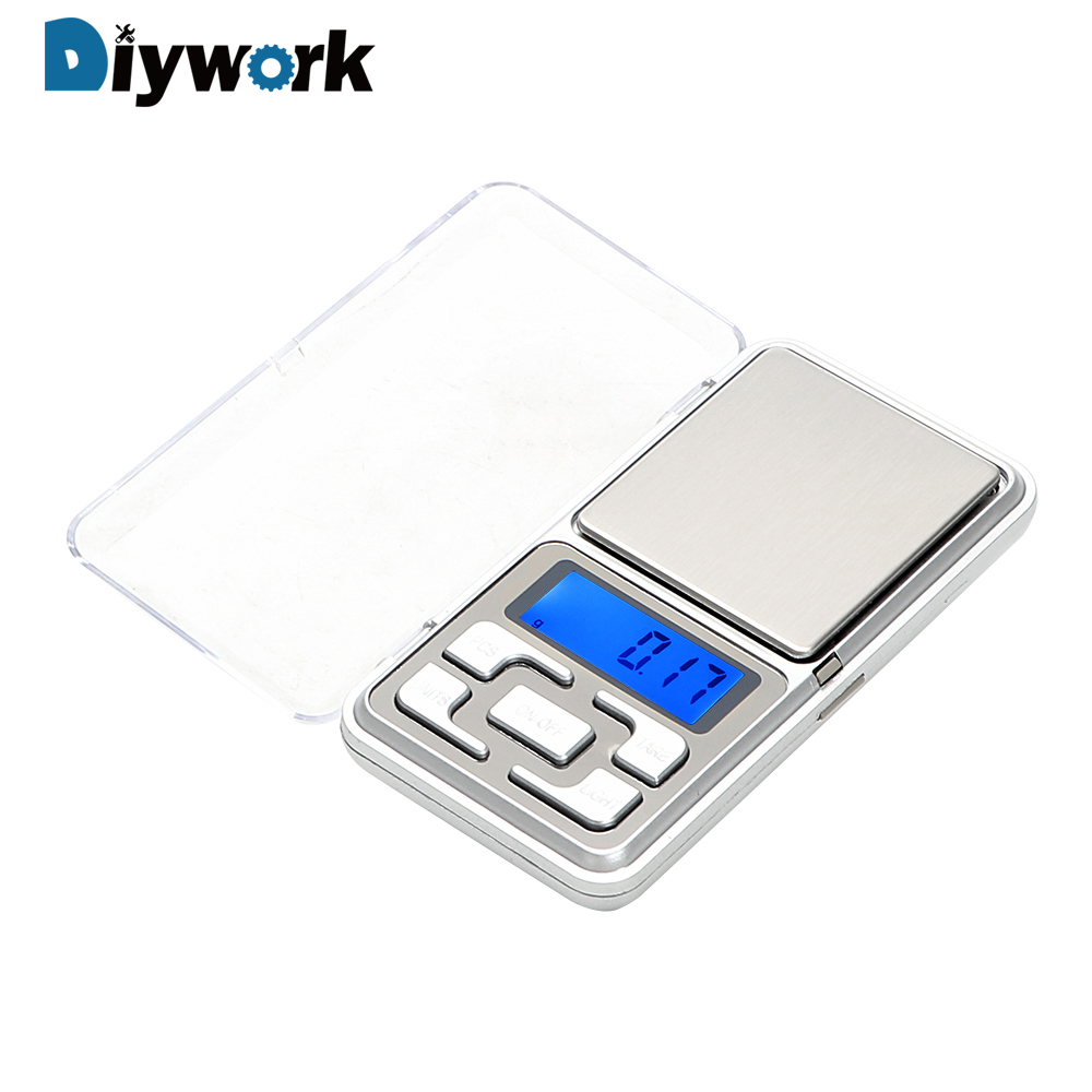 DIYWORK 100/200/300/500g <font><b>0.01g</b></font> Gold Diamond Balance <font><b>Weight</b></font> LCD Electronic Jewelry <font><b>Scale</b></font> <font><b>Digital</b></font> Pocket <font><b>Scale</b></font> image