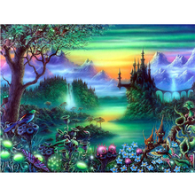 Magic castle diamond Embroidery diy painting mosaic diamant 3d cross stitch pictures H583