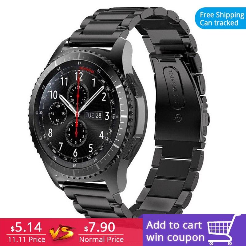 FOHUAS steeel inoxidável Pulseira para a engrenagem Samsung s3 Inteligente Relógio de pulso Banda Ligação Correia Pulseira Links Pulseira para iWatch