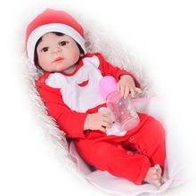 NPK Simulation Full Silicone Vinyl Reborn Baby Menina eller Boy Dolls Toy Kids Christmas Gifts Hot Sale Babies Doll Wear Kläder