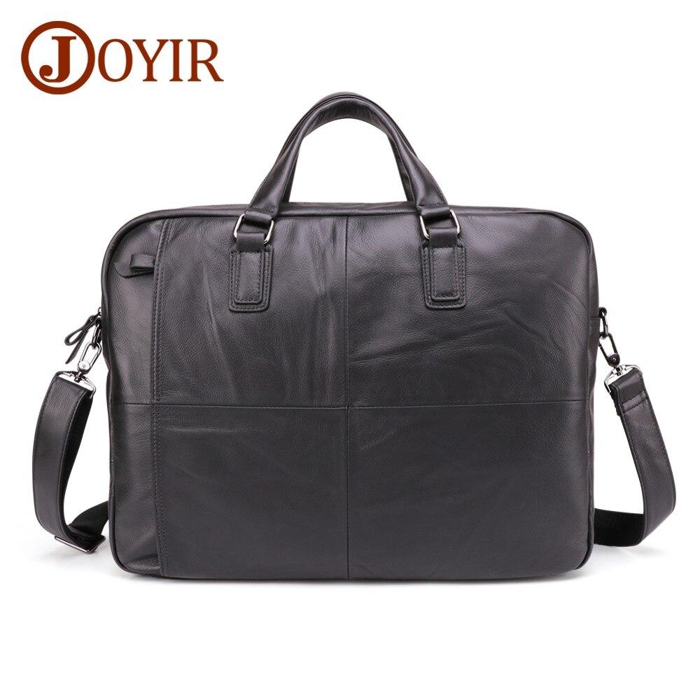 JOYIR New Design Men Genuine Leather Briefcase 17 Laptop Business Fashion Shoulder Bag Crossbody