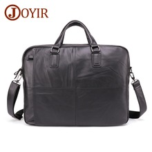 JOYIR New Design Men Genuine Leather Briefcase 17 Laptop Business Fashion Shoulder Bag Crossbody