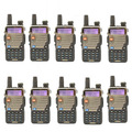 10 PCS Baofeng UV-5RE+ PLUS For Police WalkieTalkie Scanner Radio Dual Band Cb Ham Radio Transceiver UHF400-470 VHF136-174MHz