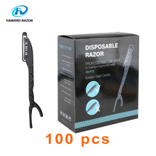 HAWARD RAZOR Disposable Single Blade Barber Razor Salon Straight Edge Sweden Imported Stainless Steel 100 Pcs