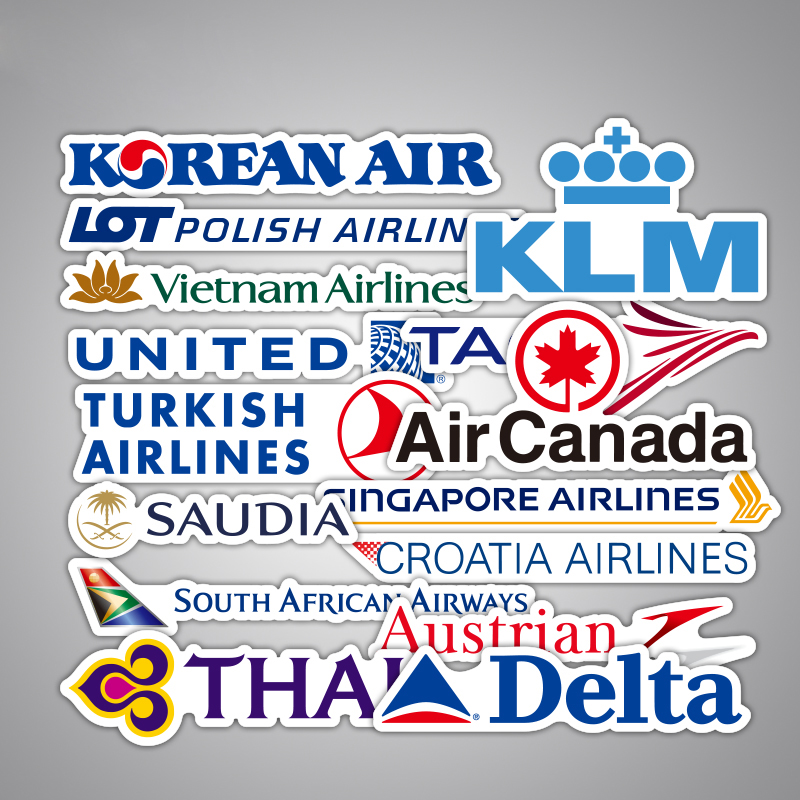 df959154be56ab National Airline Aircraft Text Logo United KLM Tap Air Canada Laptop Mobile  Phone Skateboard Guitar Suitcase