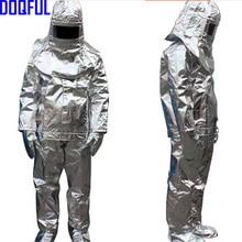 Высокое качество 500 градусов тепловое излучение жаростойкий алюминизированный костюм огнезащитная одежда форма пожарного