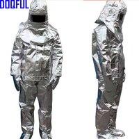Высокое качество 500 градусов Термальность излучения термостойкие Алюминированная костюм противопожарные одежда пожарный равномерное