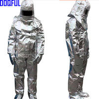 High Quality 500 Degree Thermal Radiation Heat Resistant Aluminized Suit Fireproof Clothes firefighter uniform