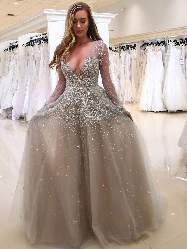 new arrival 2019 bohemian see through mesh robe sexy polka dot glitter sequin dress for wedding party maxi dresses for women in Dresses from Women 39 s Clothing