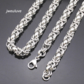 56cm,7mm Silver Chain Necklace 316L Stainless Rope Steel Punk Gifts Necklaces men jewellry cuban link body chain male Man KN032