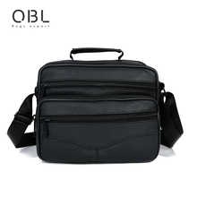 2016 echtem Leder Männer Messenger Bag Lässig Crossbody Umhängetasche Handtaschen Schwarz Sacoche Homme Bolsa Masculina MBA12