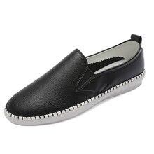 Ekoak Genuine Leather Size 35-43 New 2017 Classic Women Casual Shoes Spring Autumn Women Flats Fashion Round Toe Shoes Woman