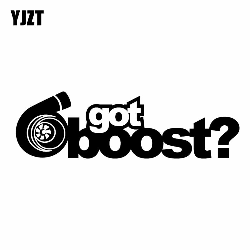 YJZT 12.7CM*3.8CM Got Boost Vinyl Decal Car Sticker Boosted Turbo Charged Black/Silver C10-00825