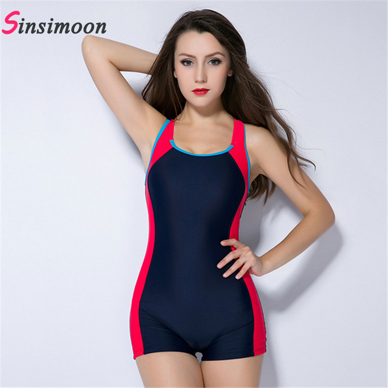 b59f8d39edf Sexy boxer shorts one piece bathing suit Athletic Swimwear competition  swimsuit Straight angle shorts,professional swim suit-in Body Suits from  Sports ...